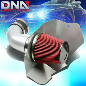 For 09 15 Cadillac Cts V Lsa Silver Polished Silver Cold Air Intake Heat Shield