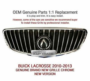 Oem Auto Parts Front Grille New Ver For Chevrolet Buick 2010 2013 Lacrosse
