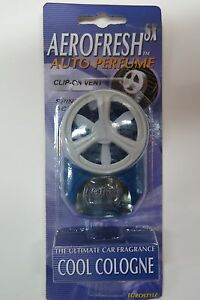 Car Air Freshener Car Perfume Spinning Action Clip On Vent Cool Cologne
