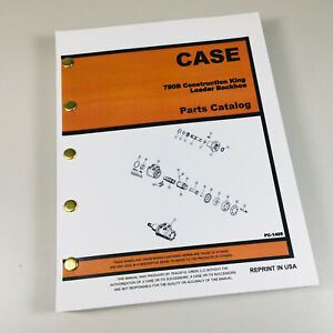 Case 780b Construction King Loader Backhoe Parts Manual Catalog Exploded View Ck