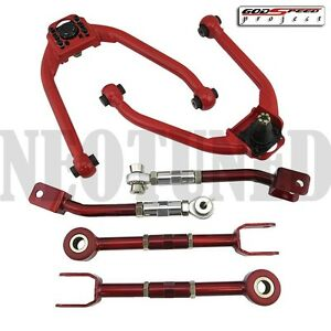 Gsp Fits 350z Z33 G35 Front Upper rear Camber toe Adjustable Control Alignment