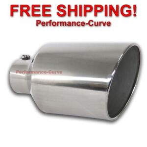 Diesel Stainless Steel Bolt On Exhaust Tip 5 Inlet 10 Outlet 18 Long