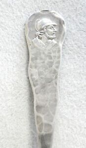Duhme Co Sterling Silver Medallion Hand Hammered Teaspoon