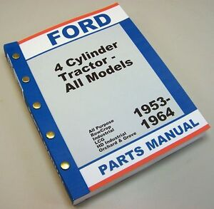 Ford 1801 Series Industrial Tractor Master Parts Manual Catalog 1958 1959 1960