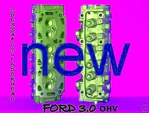 2 New Pair Ford Ranger Taurus Sable 3 0 Ohv Cylinder Heads 8mm 86 99 No Core