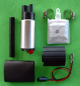 New Fuel Pump Electric 255lph High Performance Plus Install Kit 13
