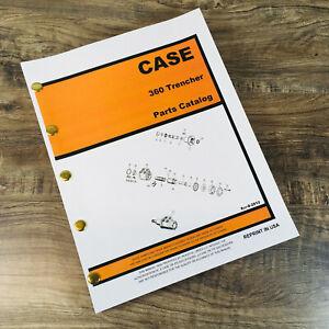 J I Case 360 Trencher Parts Manual Catalog Exploded Views Assembly Walk Behind