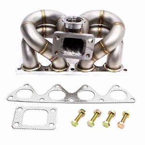 Rev9 Hp Series Honda B16 B18 Vtec Equal Length Ram Horn Turbo Manifold T3 T4 T3