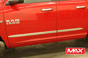 Bsdo601 02 08 Dodge Ram 1500 2500 Quad Cab Chrome Side Door Body Molding Trim 2