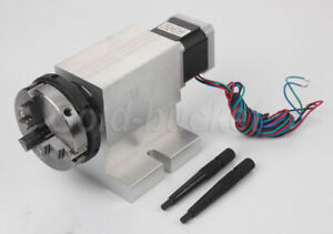Rotational Rotary Axis A axis 4th axis Cnc 63mm 3 Jaw Chuck Reducing Gear Box