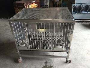 Hoeltge Inc Dog Cat Animal Vetrinary Shelter Cages 48x36 Stainless Steel