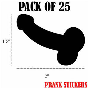 25x Penis Prank Decals Stickers Funny Gay Cock Lgbtq Vinyl Car Window Truck Dick