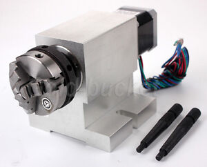 Gapless Harmonic Cnc Rotary Axis A axis 4th axis 50mm Chuck Reducing Gear Box