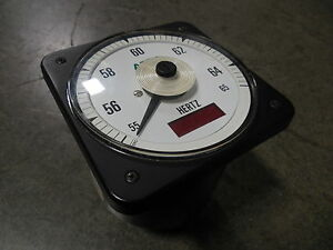 Used Asco 077 di Hertz Frequency Meter 55 65 Hz 503592 077 d m