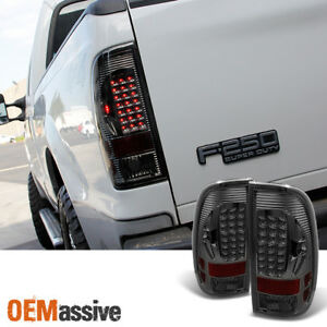 Fit Smoked 1997 2003 F150 1999 2007 F250 Led Tail Lights Lamps L r 200 2001