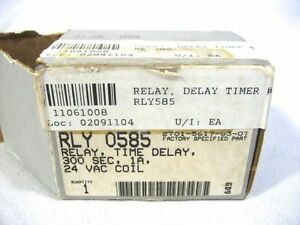 Service First Rly585 Relay Trane Timer Delay 300 Sec 1a 24 Vac Coil Rly0585