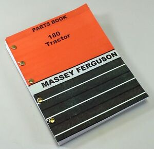 Massey Ferguson 180 Tractor Parts Manual Book Catalog Exploded View Number Mf180