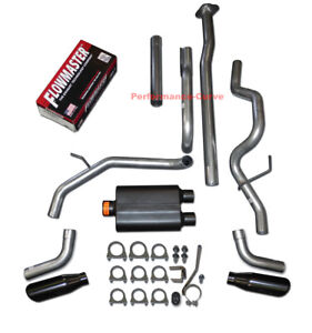 09 14 Ford F150 Catback Dual Exhaust Side Exit Flowmaster Super 44 Muffler