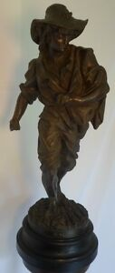 High Quality Antique Kroeber Clock Co 23 Tall Statue