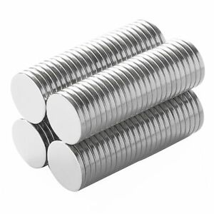 1 2 X 1 16 Inch Strong Craft Neodymium Rare Earth Disc Magnets N48 100 Pack