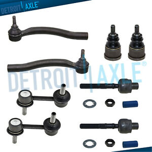 8pc Front Lower Ball Joint Sway Bar Links Tie Rods 03 07 Honda Accord Coupe 3 0l