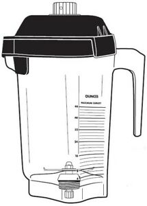 Vitamix 15978 48oz 1 4l Advance Container W Blade Two Piece Lid