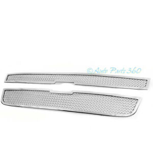 04 12 Chevy Colorado Front Upper Stainless Steel Mesh Grille Grill Insert Chrome