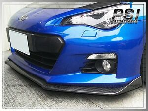 Subar Sti Look Carbon Fiber Front Bumper Add on Lip For 2012 2013 2014 Brz Coupe
