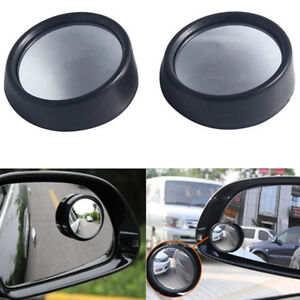 2 Pcs Round Stick On Convex Rearview Blind Spot Mirror Set 360 Degree Rotating P