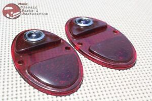 1931 1932 Chevy Rear Taillight Tail Light Lamp Blue Dot Lenses Set Of 2 New