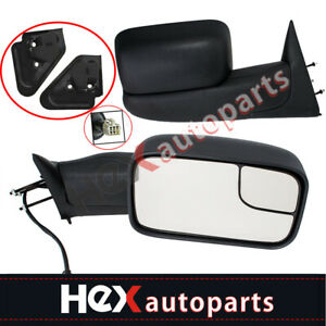 Manual Dual Arm Side View Mirrors Pair Set For Ford E250 E350 E450 E550 Van
