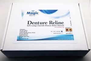 Dental Soft Chairside Self curing Denture Liner Full Set For Up To 40 Relines