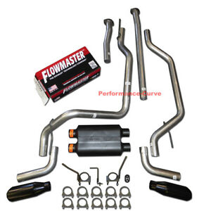 09 20 Toyota Tundra Performance Dual Exhaust Kit W Flowmaster Super 40 Muffler