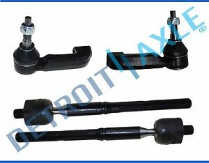 All 4 Inner Outer Tie Rod End Link Kit For Dodge Nitro Jeep Liberty
