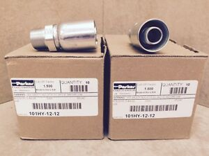 One 1 Parker Crimp Hose Fitting Hose To Pipe 101hy 12 12 Box Of 10