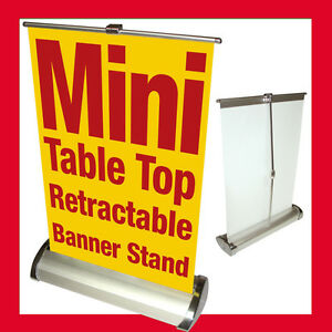Custom Mini Table Top Retractable Banner Stand 11 5x16 5 With Printed Banner