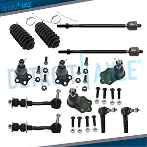 For 2000 2002 2003 Dodge Durango 2wd Upper Lower Ball Joint Tierod Sway Bar Kit