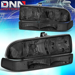 For Chevy S10 Blazer 1998 2004 Smoked Clear Headlight Bumper Signal Light