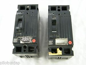 Lot Of 2 Ge Circuit Breakers 2 Pole 30a 240 V Part Teb122030