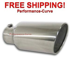 Diesel Stainless Steel Bolt On Exhaust Tip 5 Inlet 8 Outlet 18 Long