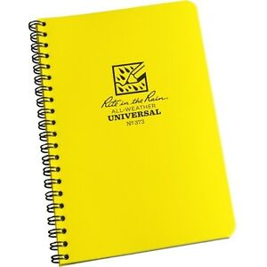 Rite In The Rain 373 All weather Universal Spiral Notebook Yellow 4 5 8 X 7