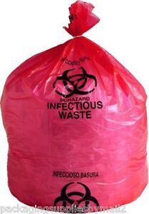 Biohazard Bags Ld Red Infectious Waste Liners 1 5 Mil Thick 11 X 14 1000 case