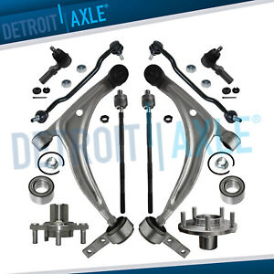 10pc Lower Control Arm Ball Joint Tie Rod Kit For Nissan Altima Maxima 3 5l