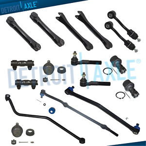 1996 1997 1998 Jeep Grand Cherokee Front Control Arm Tierod Track Bar Kit V8 4wd