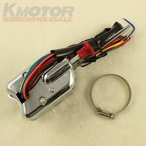 Chrome 12v Universal Street Hot Rod Turn Signal Switch For Ford Buick Gm New