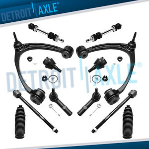 12pc Front Upper Control Arm Ball Joint Tie Rod Sway Bar For Chevy Gmc 1500