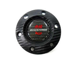 Mugen Carbon Fiber Racing Car Steering Wheel Horn Button Cover For Honda Cars