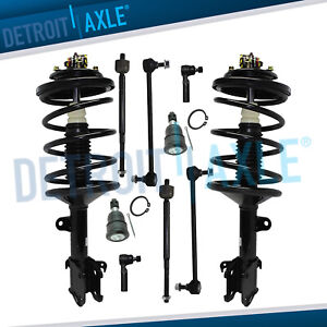 1999 2001 Honda Odyssey Front Lower Ball Joint Strut Tierod Sway Bar Kit 10pc