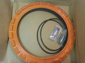 New Opw 700l Scr orange Manhole White Powder Coated Sealable Cover Ring