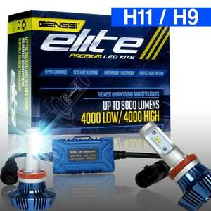 Genssi Elite H11 H9 Led Headlight Conversion Kit 76w Cree 6000k White Light Bulb